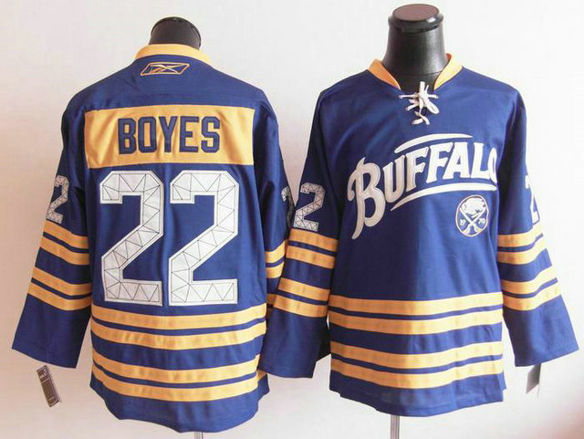 NHL Jerseys Buffalo Sabres 22 Brad Boyes Light Blue Third 40TH