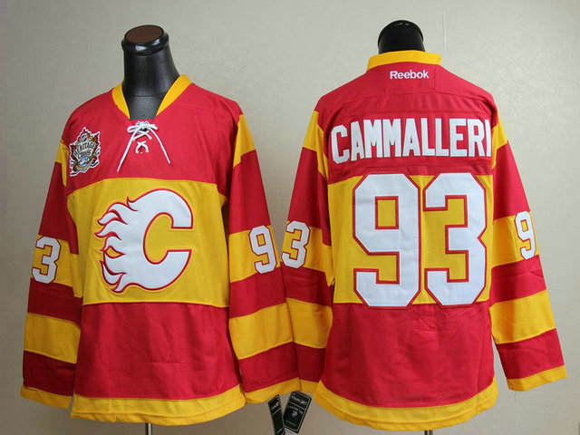 NHL Calgary Flames 93 Cammalleri red jersey