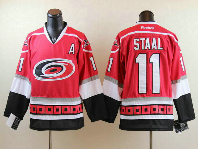 NHL Carolina Hurricanes 11 Staal Red A Patch Jersey