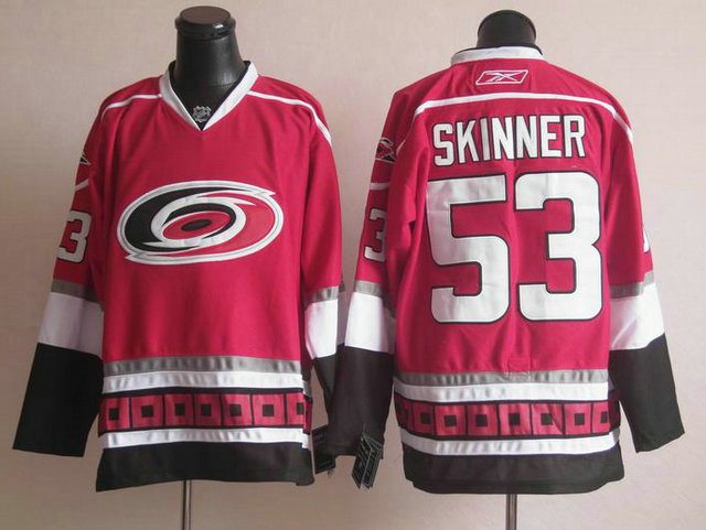 NHL Carolina Hurricanes 53 Jeff Skinner Red Jersey