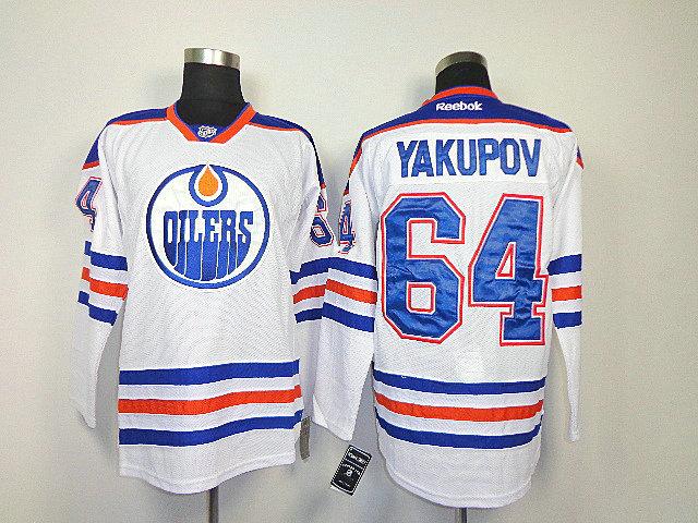 NHL Edmonton Oilers 64 Yakupov white Jersey