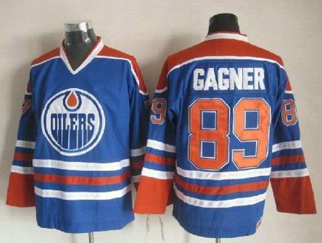 NHL Edmonton Oilers 89 Sam Gagner Blue CCM Vintage Throwback Jersey