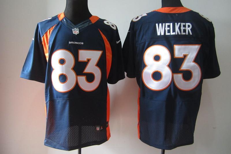 Denver Broncos 83 Wes Welker Dark Blue Nike Elite Jerseys