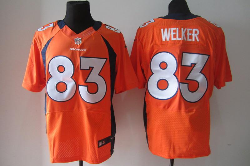 Denver Broncos 83 Wes Welker Orange Nike Elite Jerseys