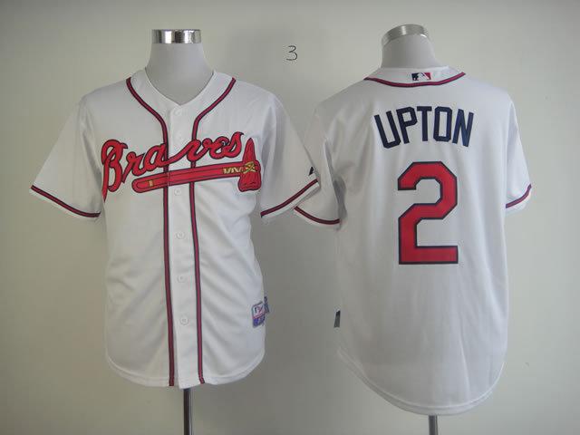 MLB Atlanta Braves 2 B.J. Upton White Jersey