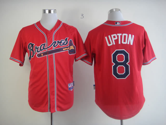MLB Atlanta Braves 8 Upton red Jersey
