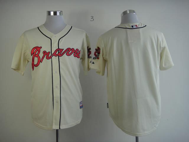 MLB Atlanta Braves Blank Gream Jersey