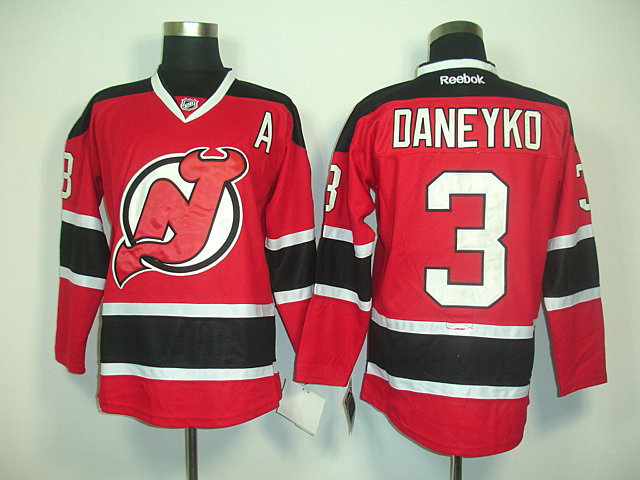 NHL New Jersey Devils 3 Ken Daneyko Red With Black A Patch