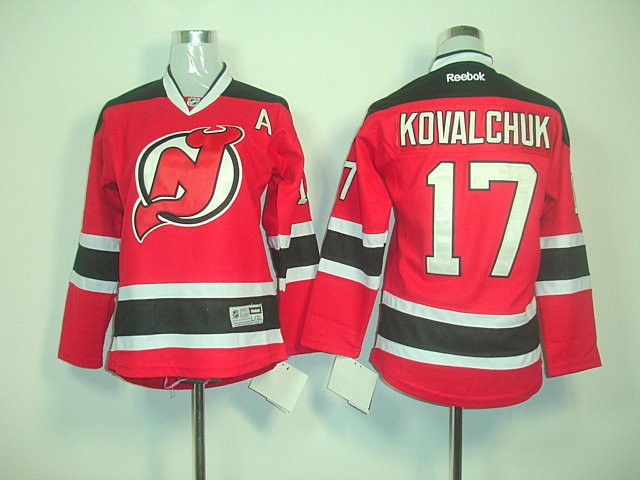 NHL New Jersey Devils 17 Ilya Kovalchuk Red Black Home A Patch