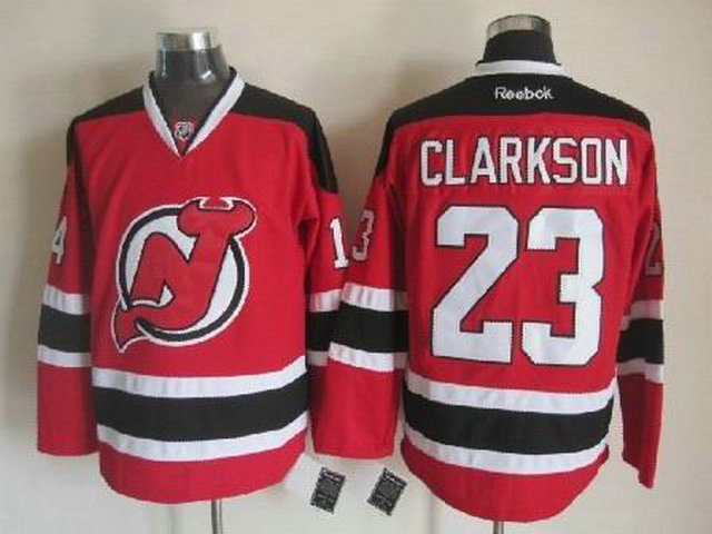NHL New Jersey Devils 23 David Clarkson Red Black