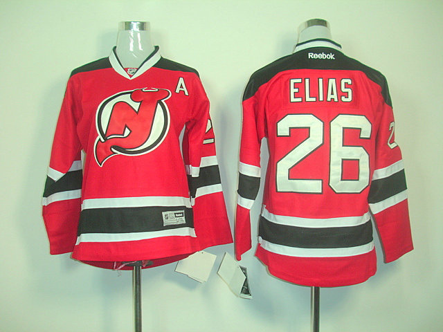 NHL New Jersey Devils 26 Patrik Elias Red Black Home A Patch