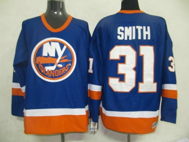 NHL New York Islanders 31 Smith blue jerseys
