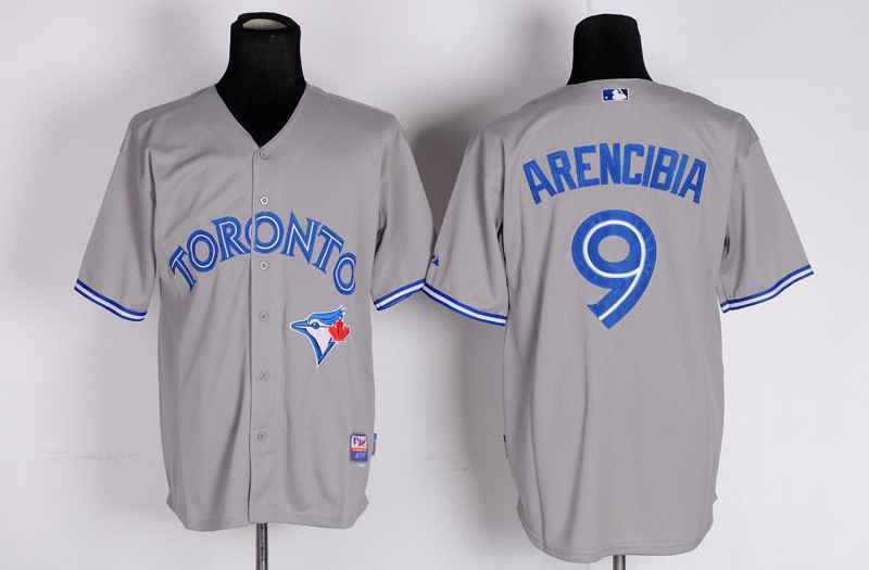 MLB Toronto Blue Jays 9 J. P. Arencibia Grey Jersey