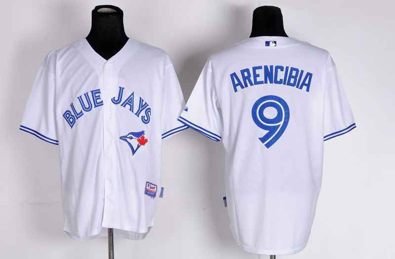 MLB Toronto Blue Jays 9 J.P Arencibia White Jersey