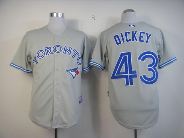 MLB Toronto Blue Jays 43 R.A. Dickey Grey Jersey