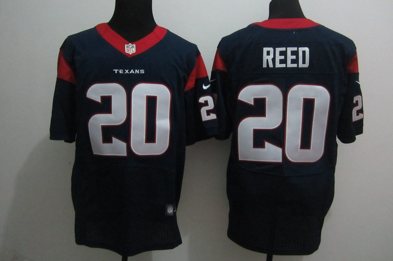 Houston Texans 20 Reed blue Nike Elite Jerseys