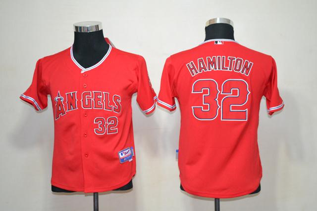 MLB Youth Jerseys Los Angeles Angels 32 Josh Hamilton Red