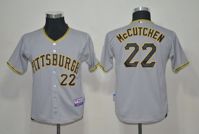 MLB Youth Jerseys Pittsburgh Pirates 22 Mccutchen Grey