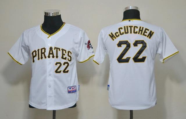 MLB Youth Jerseys Pittsburgh Pirates 22 Mccutchen White