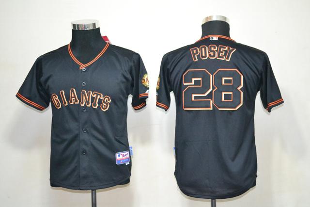 MLB Youth Jerseys San Francisco Giants 28 Buster Posey Black
