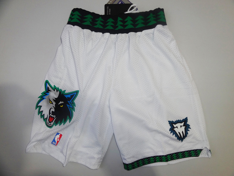 Minnesota Timberwolves mesh white M&N shorts