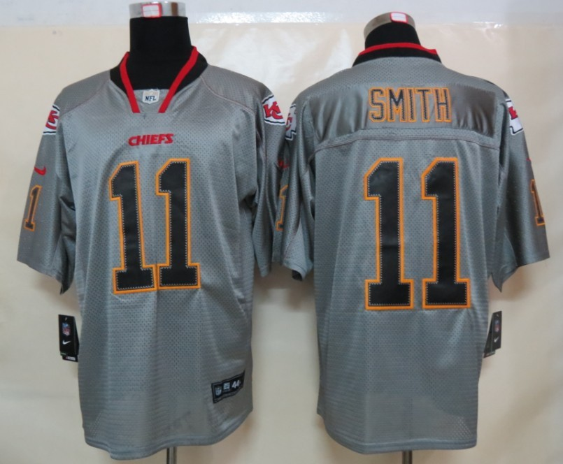Kansas City Chiefs 11 Smith Nike Lights Out Grey Elite Jerseys