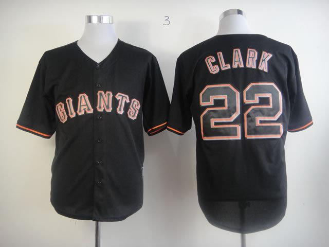 MLB San Francisco Giants 22 Will Clark Black Fashion Jerseys