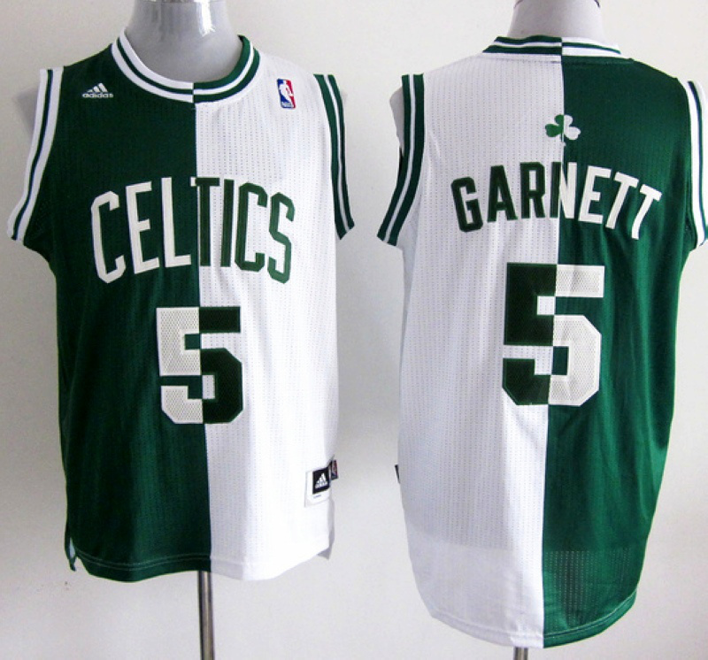 NBA Boston Celtlcs 5 GARNETT green and white Splitting Special Edition jersey