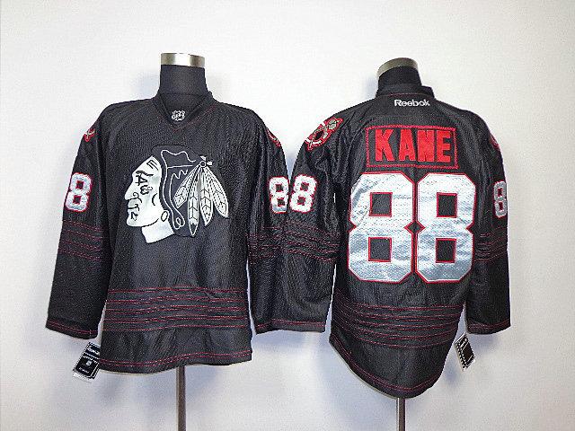NHL Chicago Blackhawks 88 Patrick Kane Black Jerseys