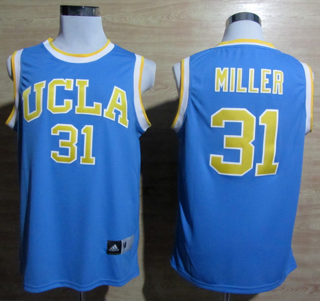 NBA NCAA Addidas UCLA Bruins 31 Reggie Miller Blue College Basketball Jersey