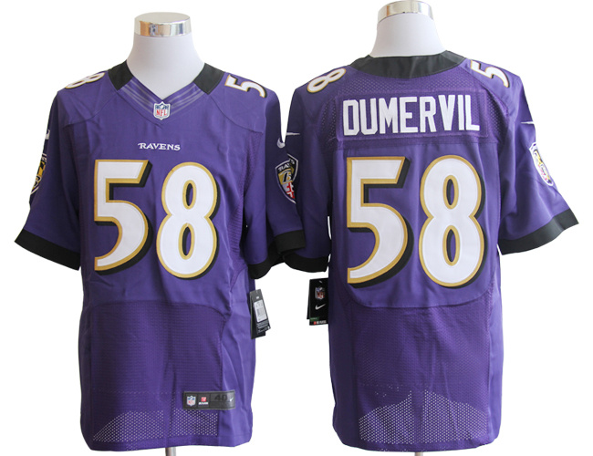 Baltimore Ravens 58 Dumervil Purple Nike Elite Jerseys