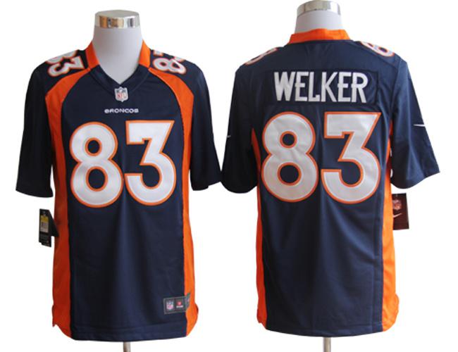 Denver Broncos 83 Wes Welker Blue Nike Game Jerseys
