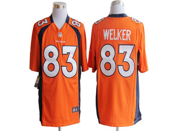 Denver Broncos 83 Wes Welker Orange Nike Game Jerseys