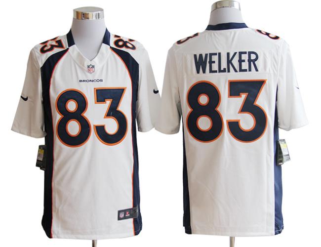 Denver Broncos 83 Wes Welker White Nike Game Jerseys
