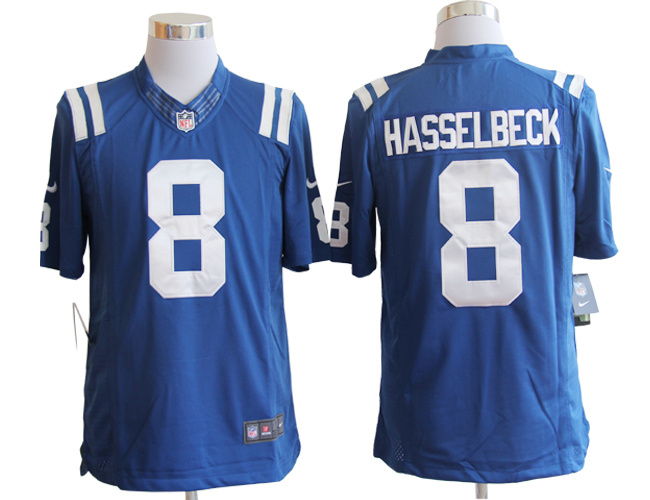 Indianapolis Colts 8 Hasselbeck blue Nike Limited Jerseys