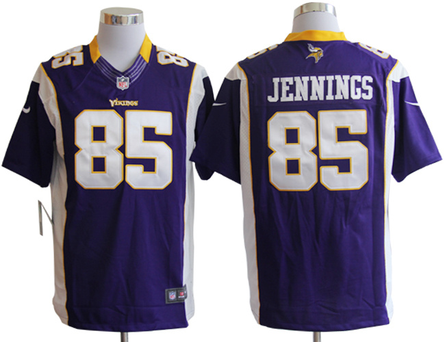 Minnesota Vikings 85 Jennings Purple Nike Limited Jerseys