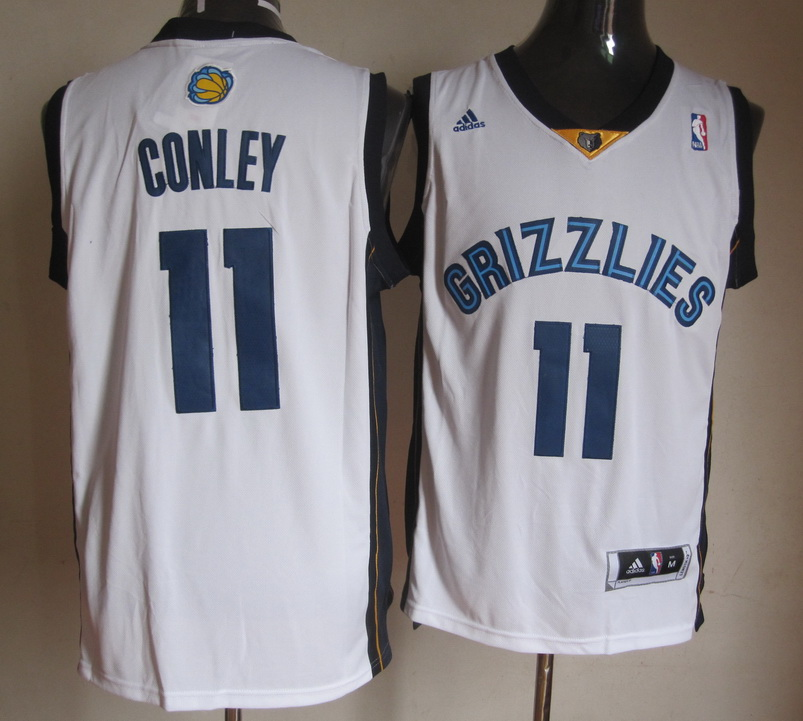 NBA Memphis Grizzlies 11 Mike Conley White Jerseys