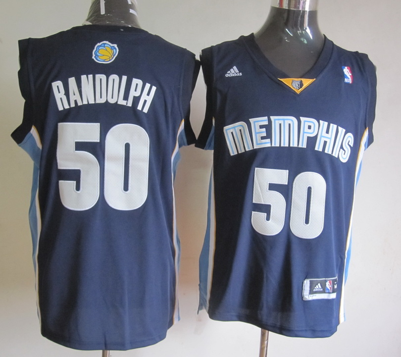 NBA Memphis Grizzlies 50 Zach Randolph Dark Blue Jerseys