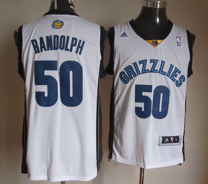 NBA Memphis Grizzlies 50 Zach Randolph White Jerseys