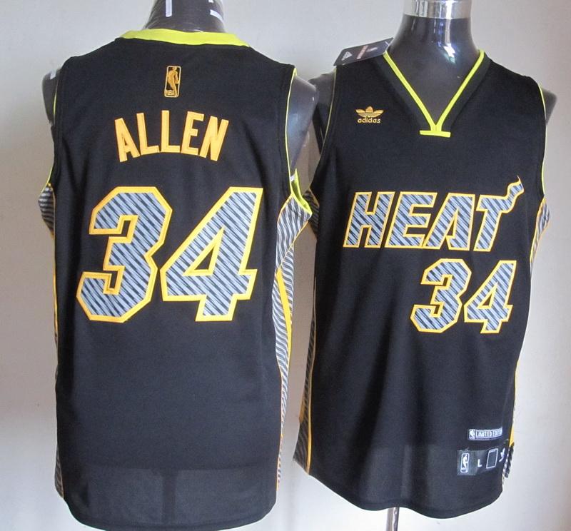 NBA Miami Heat 34 Allen 2014 New Black1 Jerseys