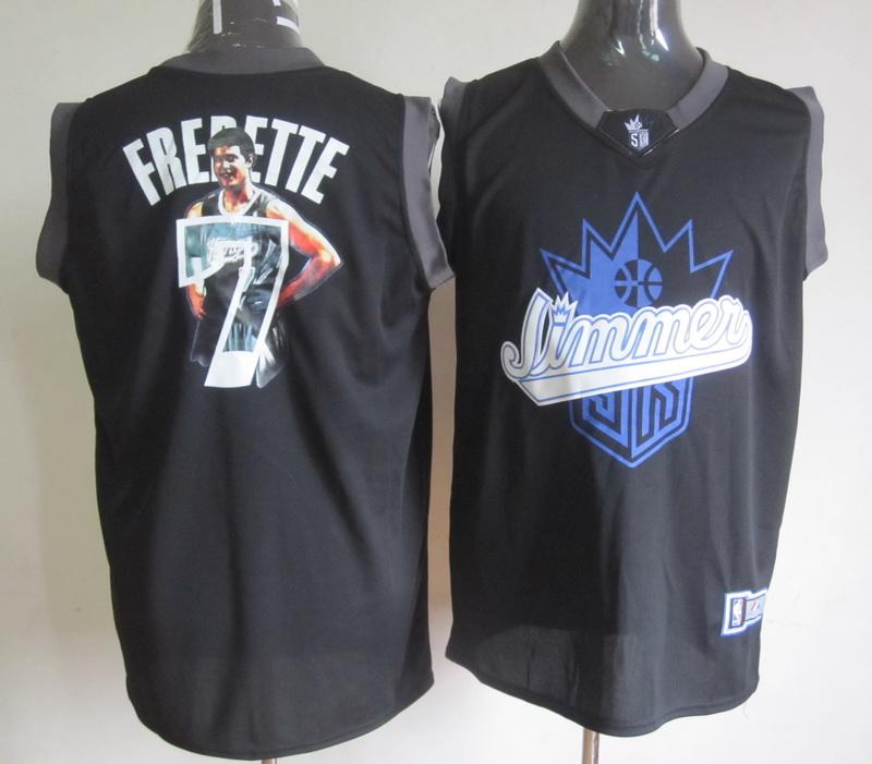 NBA Sacremento Kings 7 Jimmer Fredette Swingman Black Fashion Limited