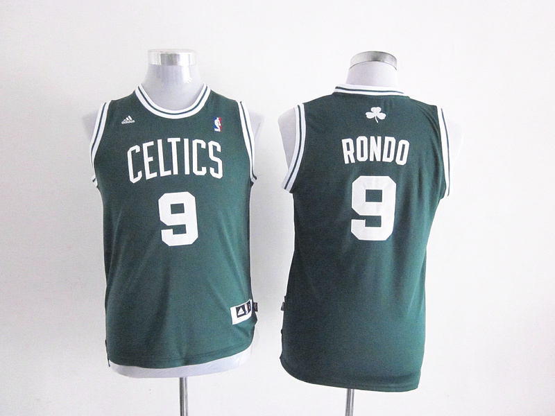 NBA Youth Boston Celtics 9 Rajon Rondo Green Jerseys