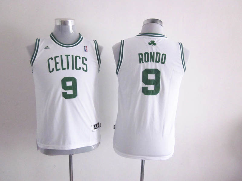 NBA Youth Boston Celtics 9 Rajon Rondo White Jerseys