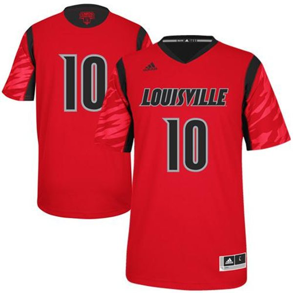 NBA NCAA adidas Louisville Cardinals 2013 March Madness Gorgui Dieng 10 Red Jersey