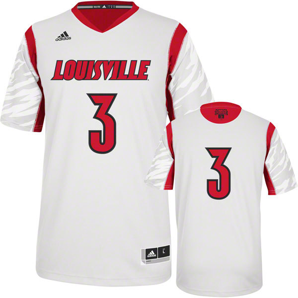 NBA NCAA adidas Louisville Cardinals 2013 March Madness Peyton Siva 3 White Jersey