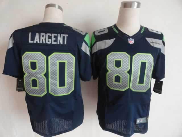 Seattle Seahawks 80 Largent blue Nike Elite Jerseys