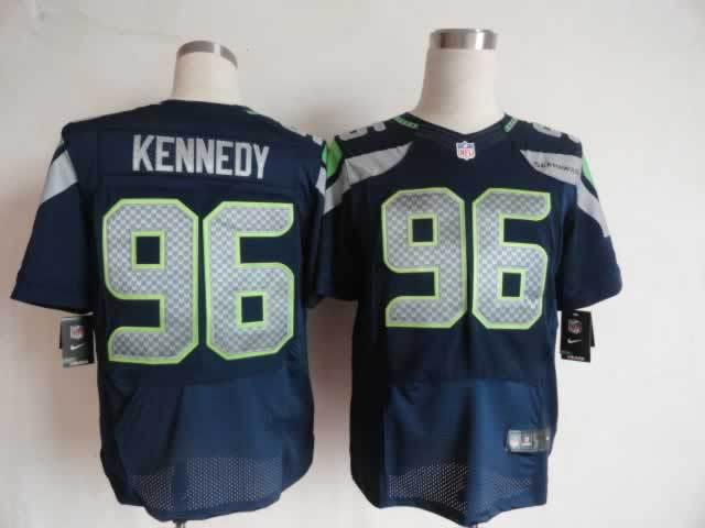 Seattle Seahawks 96 Kennedy blue Nike Elite Jerseys