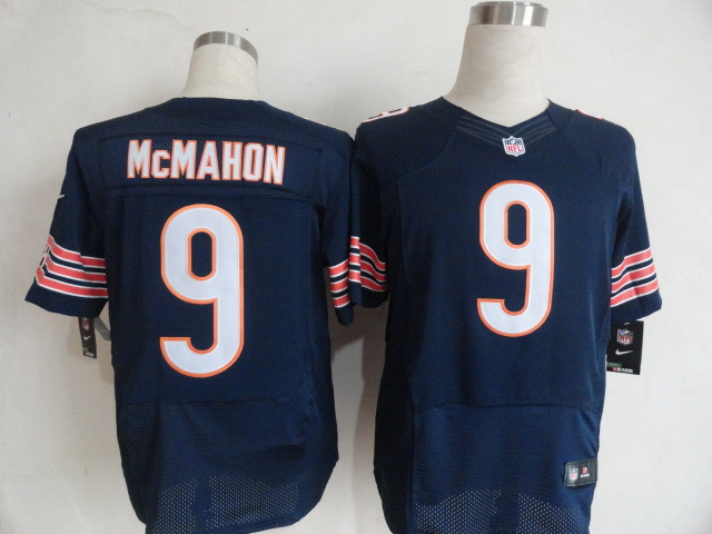 Chicago Bears 9 Jim McMahon Blue Nike Elite Jersey