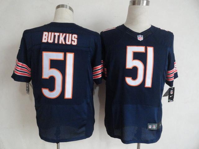Chicago Bears 51 Dick Butkus Blue Nike Elite Jersey