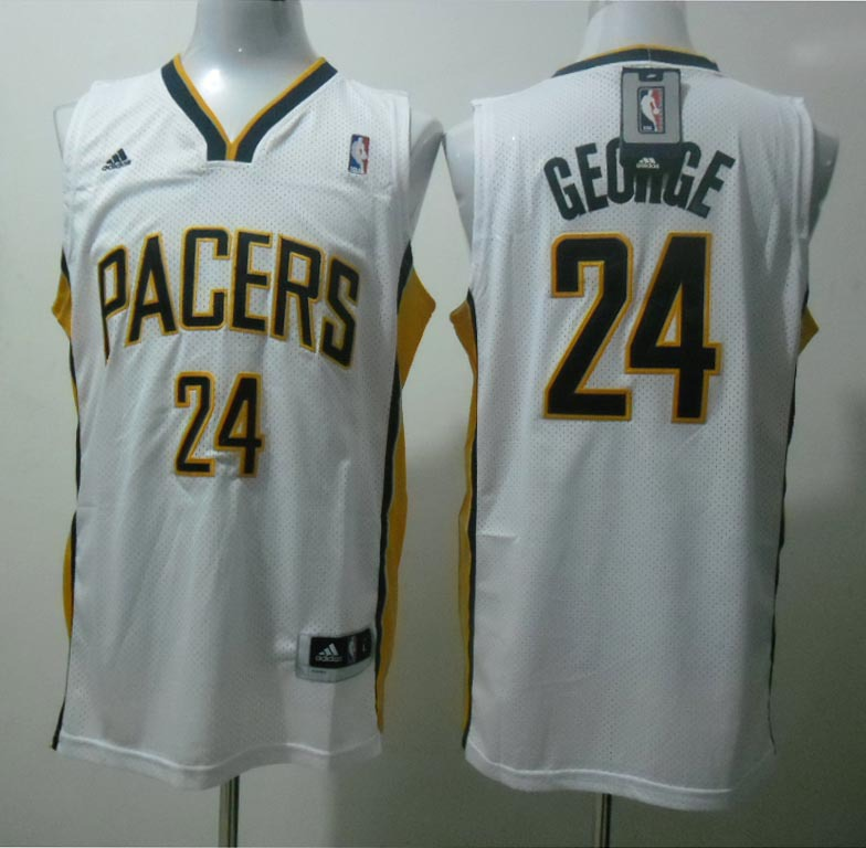 NBA Indlana Pacers 24 Paul George White Jerseys